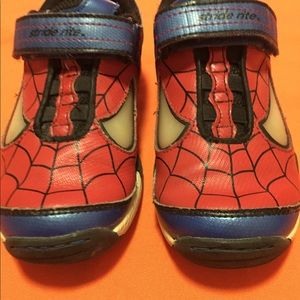 Stride rite , spider man light up shoes